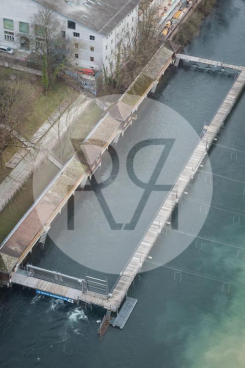 SCHWEIZ - ZÜRICH - Flussbad Unterer Letten in der Limmat - 26. Januar 2018 © Raphael Hünerfauth - http://huenerfauth.ch