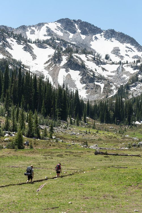 Backpacking in Oregon's Wallowa Mountains.