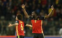 20170325 - Brussels, Belgium / Fifa WC 2018 Qualifying match : Belgium vs Greece / <br />Romelu LUKAKU - Vreugde Joie Celebration<br />European Qualifiers / Qualifying Round Group H /  <br />Picture by Vincent Van Doornick / Isosport
