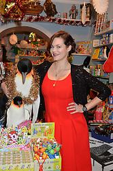 LONDON, ENGLAND 1 DECEMBER 2016: Jasmine Guinness at the 10th birthday party for the toy shop HoneyJam, 2 Blenheim Crescent, Notting Hill, London, England. 1 December 2016.