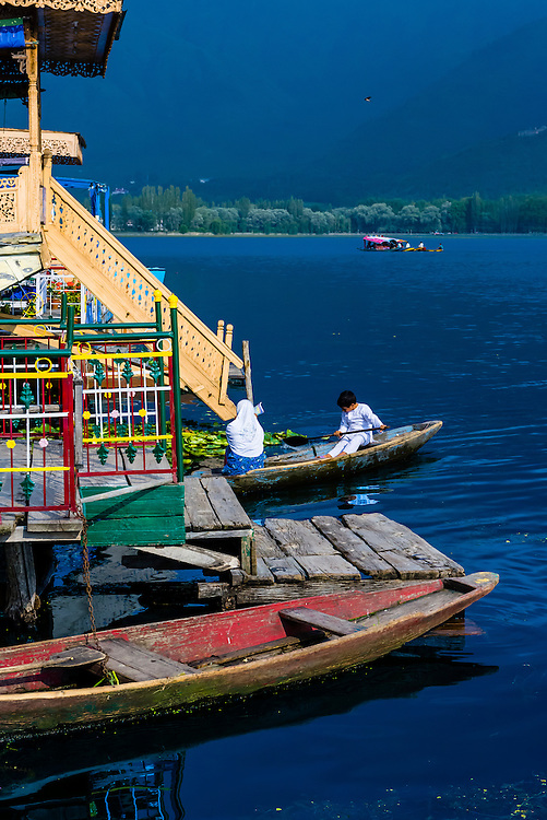 Houseboats, Dal Lake, Srinagar, Kashmir, Jammu and Kashmir State; India.