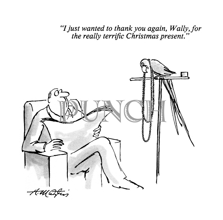 """I just wanted to thank you again, Wally, for the really terrific Christmas present."""