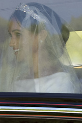 Meghan Markle leaves Cliveden House Hotel en route to St Georges Chapel for her wedding to Prince Harry Photo. 19 May 2018 Pictured: Meghan Markle and her mother Doria Ragland. Photo credit: Phil Harris / MEGA TheMegaAgency.com +1 888 505 6342