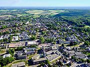 Nederland, Gelderland, GemeenteBerg en Dal; 27-05-2020; centrum van Groesbeek met stadhuis GemeenteBerg en Dal. In het midden (diagonaal) naar rechts de Europa Radbahn, snelfietspad.<br /> Center of Groesbeek with town hall, Municipality of Berg en Dal. In the middle (diagonally) to the right the Europa Radbahn, fast cycle path.<br /> <br /> luchtfoto (toeslag op standaard tarieven);<br /> aerial photo (additional fee required)<br /> copyright © 2020 foto/photo Siebe Swart