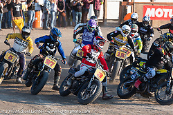 Hooligan flat track races at the Buffalo Chip during the 78th annual Sturgis Motorcycle Rally. Sturgis, SD. USA. Wednesday August 8, 2018. Photography ©2018 Michael Lichter.