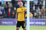 David Pipe of Newport county looks on. EFL Skybet football league two match, Newport county v Wycombe Wanderers at Rodney Parade in Newport, South Wales on Saturday 9th September 2017.<br /> pic by Andrew Orchard, Andrew Orchard sports photography.
