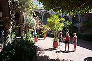In the patio of La Popa convent