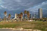 Charles Clore Park a beach front park between Tel Aviv and Jaffa. Israel