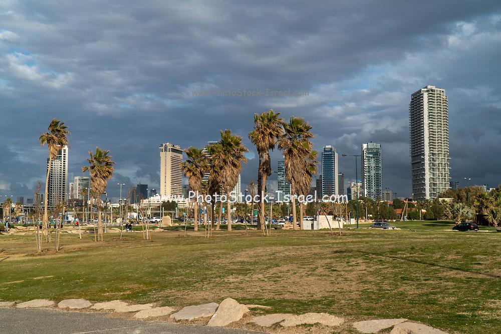 Charles Clore Park a beach front park between Tel Aviv and Jaffa. Israel