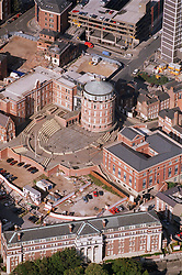 Aerial view of former General Hospital in Nottingham with former nurses home in the foreground,