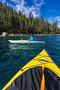 Kayaking in Emerald Bay, Emerald Bay State Park, Lake Tahoe, California USA