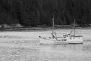 Alaska, USA fishing ship of the coast