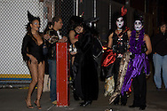 Revelers dressed as witches
