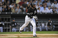 CHICAGO - AUGUST 19:  Ken Griffey Jr. #17 of the Chicago White Sox runs toward first base during the game against the Seattle Mariners at U.S. Cellular Field in Chicago, Illinois on August 19, 2008.  The White Sox defeated the Mariners 5-0.  (Photo by Ron Vesely)