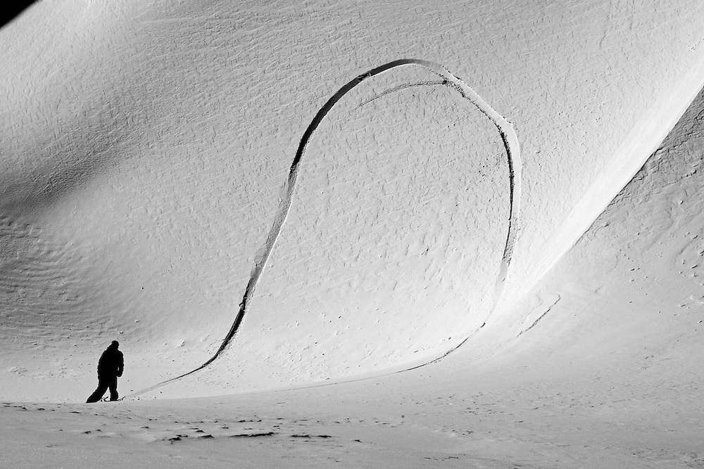 James Sweet, natural wave, Chamonix, France.