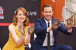 Ryan Gosling and Emma Stone's Hand And Footprint Ceremony in Los Angeles, California. 07 Dec 2016 Pictured: Ryan Gosling and Emma Stone. Photo credit: Bauer Griffin / MEGA TheMegaAgency.com +1 888 505 6342