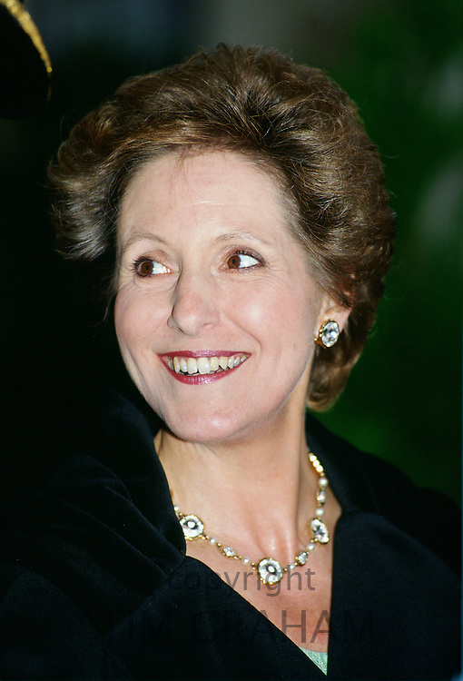 Norma Major, wife of the former Conservative Prime Minister, John Major, UK