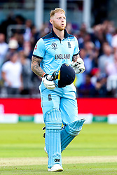 Ben Stokes of England breathes a sigh of relief - Mandatory by-line: Robbie Stephenson/JMP - 14/07/2019 - CRICKET - Lords - London, England - England v New Zealand - ICC Cricket World Cup 2019 - Final