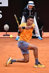 May 13, 2019 - Roma, Italia - Foto Alfredo Falcone - LaPresse.13/05/2019 Roma ( Italia).Sport Tennis.Internazionali BNL d'Italia 2019.Borna Coric (cro) vs Felix Auger-Aliassime (can).Nella foto:Felix Auger-Aliassime..Photo Alfredo Falcone - LaPresse.13/05/2019 Roma (Italy).Sport Tennis.Internazionali BNL d'Italia 2019.Borna Coric (cro) vs Felix Auger-Aliassime (can).In the pic:Felix Auger-Aliassime (Credit Image: © Alfredo Falcone/Lapresse via ZUMA Press)