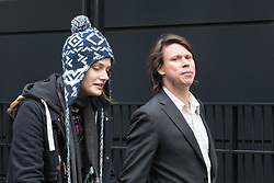 London - Alleged computer hacker Lauri Love with his girlfriend Sylvia Mann in London after he successfully challenged a ruling that he can be extradited to the US, following allegations that he hacked United States government websites. February 05 2018.