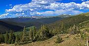 USA, Colorado, Rocky Mountain National Park, Digital Composite, panorama
