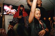 Feeling the music at Blacktronica, NFT cafe, London, November 2006