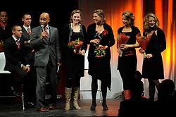 13-12-2010 ALGEMEEN: TOPSPORT GALA AMSTERDAM: AMSTERDAM<br /> In de Westergasfabriek werd het gala van de beste sportman, -vrouw, coach en ploeg gekozen / Sportploeg Dames Vier zonder, Carline Bouw, Chantal Achterberg, Femke Dekker en Nienke Kingma<br /> ©2010-WWW.FOTOHOOGENDOORN.NL