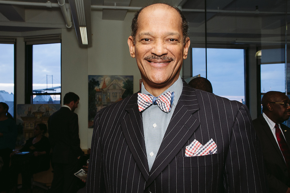 NEW YORK - March 27: Georges Boursiquot at FOKAL's The Promise of Haiti II Event. Photographed March 27, 2015 at the Medici Group in NY, NY. 2015 © Cat Laine.