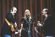 Peter, Paul, and Mary perform at the Martin Luther King Jr Gala at the Kennedy Center for the Performing Arts in February 1986..Photograph by Dennis Brack bb32