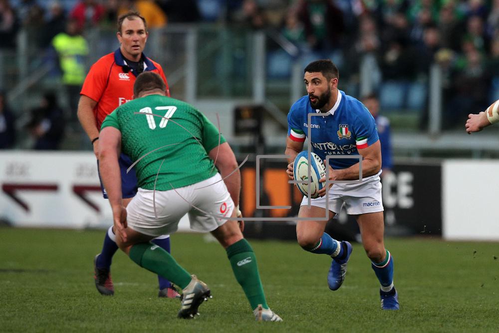 Roma 24/02/2019, Stadio Olimpico<br /> Guinness 6 nations 2019<br /> Italia vs Irlanda<br /> Tito Tebaldi