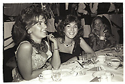 Ghislaine Maxwell, Julia Verdin, Chelsea arts Ball, Royal Albert Hall, London. 1985