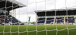 Falkirk's keeper Michael McGovern as Falkirk's Rory Loy celebrates after scoring their first goal.<br /> Falkirk 2 v 1 Queen of the South, Scottish Championship 5/10/2013, played at The Falkirk Stadium.<br /> ©Michael Schofield.