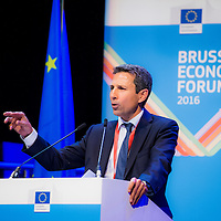 Brussels, Belgium, 9 June 2016<br /> Brussels Economic Forum 2016.<br /> Jose Leandro, Director, Directorate General For Economic and Financial Affairs, European Commission.<br /> The Brussels Economic Forum (BEF) is the flagship annual economic event of the European Commission.<br /> The BEF brings together top European and international policymakers and opinion leaders as well as civil society and business leaders. It is the place to take stock of economic developments, identify key challenges and debate policy priorities.<br /> Photo: European Commission / Ezequiel Scagnetti