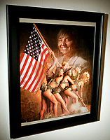 Diane Duke, Executive Director of the Free Speech Coalition, is seen reflected in a photograph created for the coalition in her office in Canoga Park, CA. May 28, 2008. The group is adult industry's trade association.  Photo by David Sprague