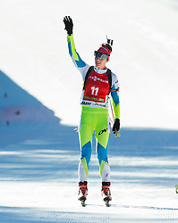 GREGORIN Teja (SLO) at finish line during Women 12,5 km Mass Start at day 4 of IBU Biathlon World Cup 2014/2015 Pokljuka, on December 21, 2014 in Rudno polje, Pokljuka, Slovenia. Photo by Vid Ponikvar / Sportida