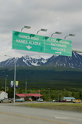 Highway Road Sign Alaska