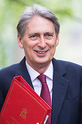 Downing Street, London, May 10th 2016. Foreign Secretary Philip Hammond arrives at the weekly cabinet meeting in Downing Street.