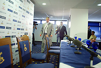 17/7/2004<br />Jacques Santini Unveiling - Tottenham Hotspur - White Hart Lane<br />Tottenham Hotspurs' new Head Coach Jacques Santini and new Director of Football Frank Arnesen arrive for their press conference unveiling the new management team.<br />Photo:Jed Leicester/Back page images