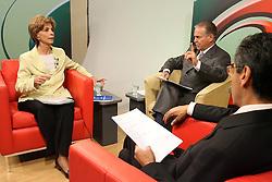 A candidata ao governo do Estado do RS Yeda Crusius durante debate da TV Guaíba. FOTO: Jefferson Bernardes/Preview.com