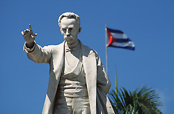 Statue of Cuban national hero Jose Marti in Parque Central in Havana,