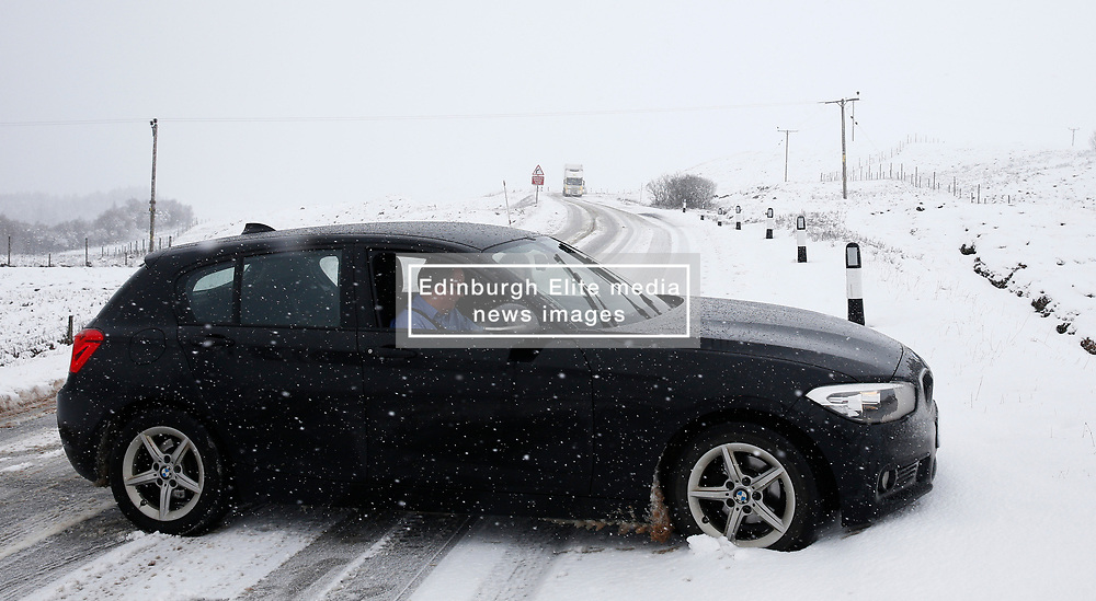 Winter is not finished in the West Highlands as a heavy snow storm sweeps the area. The A82 in Glencoe was hit hard with the road being closed due to the conditions...... (c) Stephen Lawson   Edinburgh Elite media