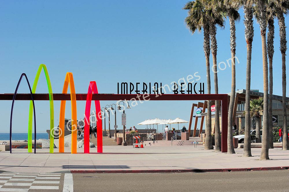 Imperial Beach Pier in background.