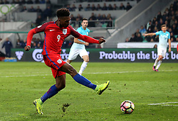 Daniel Sturridge of England shoots weakly at goal - Mandatory by-line: Robbie Stephenson/JMP - 11/10/2016 - FOOTBALL - RSC Stozice - Ljubljana, England - Slovenia v England - World Cup European Qualifier