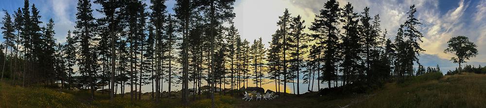 Looking West, Nautilus Island, Castine, Maine, US