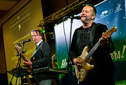 Robert Dragar and Miran Miki Vlahovič of Music group Victory perform during Award ceremony at Day 4 of 15th Slovenia Open - Thermana Lasko 2018 Table Tennis for the Disabled, on May 12, 2018, in Dvorana Tri Lilije, Lasko, Slovenia. Photo by Vid Ponikvar / Sportida