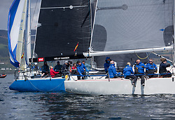 Lights winds dominated the Pelle P Kip Regatta  at Kip Marine weekend of 12/13th May 2018<br /> <br /> GBR9470R, Banshee, Charlie Frize, CCC, Corby 33.<br /> <br /> Images: Marc Turner