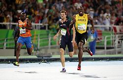 18-08-2016 BRA: Olympic Games day 13, Rio de Janeiro<br /> Usain Bolt wint de 200m finale. Churandy Martina wordt vijfde en komt  1 honderdste tekort voor brons.