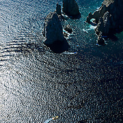 Aerial view of The Arch in Cabo San Lucas, Baja California Sur, Mexico.