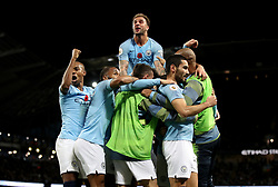 File photo dated 11-11-2018 of Manchester City's Ilkay Gundogan (right) celebrates scoring his side's third goal of the game with his team-mates during the Premier League match at the Etihad Stadium, Manchester.