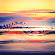 Abstract seascape at sunset<br /> --> Redbubble Prints: https://rdbl.co/2NX3EYM